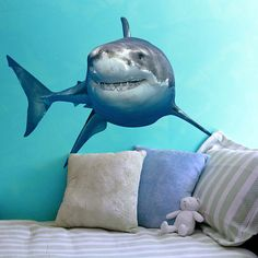 Great White Shark Sea Life Vinyl Decal by WilsonGraphics on Etsy, $35.00 i need this