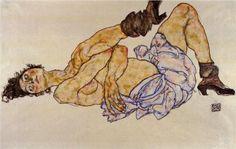 Reclining Female Nude - Egon Schiele