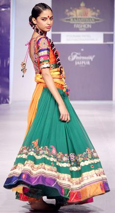 Poonam Patel showcases her colorful designs at RFW 2013 Find Similar Exclusive Laces and fabrics @ www.lacxo.com