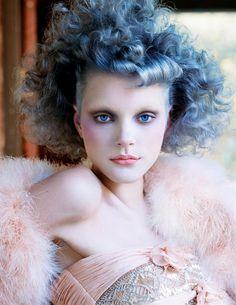 Topanga Rose  Magazine: Vogue Italia September 2002  Photographer: Steven Meisel  Model: Jessica Stam                                         via doppelganger