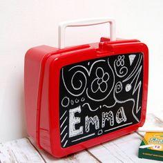 Chalkboard Retro Plastic Lunch Box