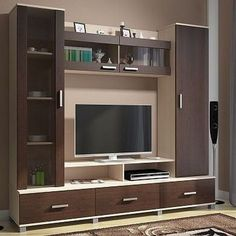 Modern Minimalist TV Desk Design Talking about decoration, room decoration becomes the most important part in beautifying the appearance of your home. Some electronic equipment and room furniture b… Design Room, Tv Wall Design, Pop Design, Tv Unit Furniture Design, Tv Unit Interior Design, Tv Furniture, Lcd Unit Design, Simple Furniture, Furniture Ideas