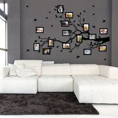 Wall sticker - Family twig for photos Wall Stickers Family, Brindille, Photo Tree, Rustic Wall Decor, Diy Wall Art, Hanging Planters, Office Decor, Photo Wall Art, Home Accessories