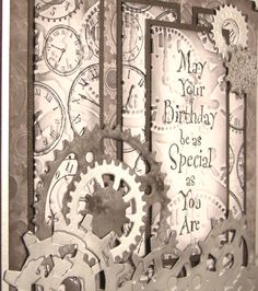 steampunk  Super men's card