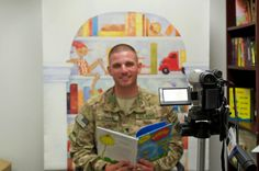 A #USO #Soldier reading with #UnitedThroughReading! #USOMoments #UTR4military #military #family #literacy #nonprofit #deployment