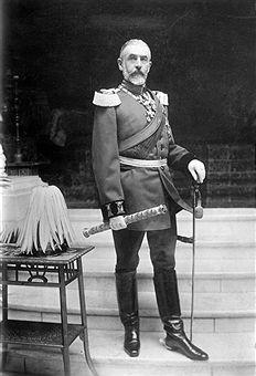 20.04.1839-Karl Eitel Friedrich Zepyrinus Ludwig von Hohenzollern-SigmaringenFürst von Rumänien 1866-1881König von Rumänien 1881-1914Ganzkörperaufnahme in Uniform um 1910