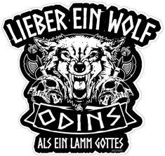 Lieber ein Wolf Odins als ein Lamm Gottes Wikinger Walhalla Aufkleber Autoaufkleber Sticker Vinylaufkleber Decal: Amazon.de: Sport & Freizeit