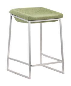 Zuo Modern Lids Counter Stool Green (Set of 2)