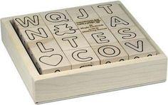 Maple Landmark 73076 ABC Blocks, Simple, with Tray