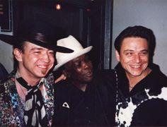 With John Lee Hooker Steve Ray Vaughan, Jimmie Vaughan, Texas Flood, John Lee Hooker, Best Guitar Players, Brandy Love, Stevie Ray, Extraordinary People, Rock N Roll