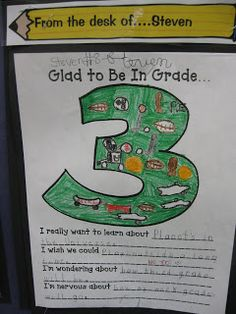 Third Grade Thinkers: Writing In Third Grade...cute for open house!