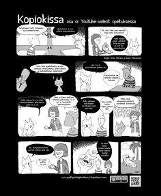 Kopiokissa osa 12. YouTube-videot opetuksessa - Opettajan tekijänoikeusOpettajan tekijänoikeus Youtube, Teaching, Education, Comics, Movie Posters, Film Poster, Cartoons, Onderwijs, Learning