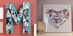 Fotowände und Fotocollagen Ideen,mit denen du dein Heim verzauberst  Die Bilder der letzten Familienfeier, des Sommerurlaubs und des ersten Geburtstags