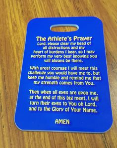 An Athletes Prayer Swim Bag Tag Sport Bag Tag Swim by FlipTurnTags