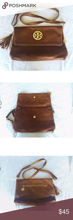 Brown Cross Body Bag Really cute tanish/ brown bag! This is not TB. Bags Crossbody Bags