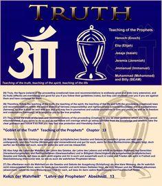25) Truly, the figure (extent) of the proceeding (creational) laws and recommendations is endlessly great and wide (very extensive), and its fruits (effects) are everlasting and good for you if you follow their guidelines (rules), but they cast shadows over you if you are against them and have contempt for them.  26) Therefore, follow the teaching of the truth, the teaching of the spirit, the teaching of the life and fulfil the proceeding (creational) laws and recommendations within the…