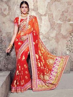 Banaras Rich Pallu Saree With Diamond Cut Dana & Mirror Work With Banaras Blouse designed by M.N.Sarees @ 6100 only