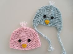 sennaloves: free pattern: newborn chick beanie