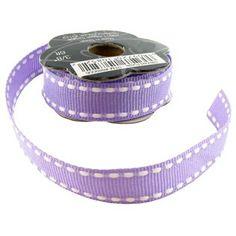Purple & White Stitched Grosgrain Ribbon | Shop Hobby Lobby