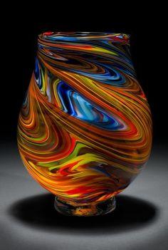 Karen Naylor - Hobbies paining body for kids and adult Art Of Glass, Blown Glass Art, Glass Art Design, Glass Paperweights, Glass Vase, Sculpture Romaine, Statues, Glas Art, Glass Ceramic