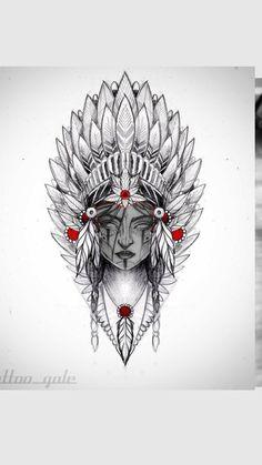 Half Sleeve Tattoos For Guys, Best Sleeve Tattoos, Tattoo Sleeve Designs, Leg Tattoos, Body Art Tattoos, Native Indian Tattoos, Indian Girl Tattoos, Tribal Flower Tattoos, Animal Tattoos