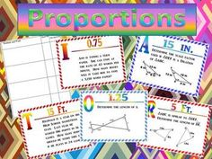 Proportions and Similar Figures Scavenger Hunt Activity -