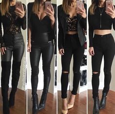 4 leather outfits