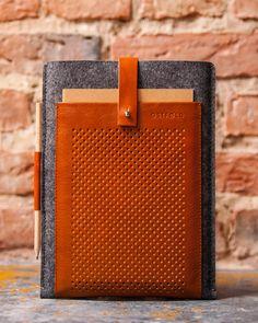 Genuine leather iPad case Felt iPad sleeve Leather tablet cover inch tablet case Leather iPad handbag Bag for iPad Macbook Air, Couture Cuir, Coque Ipad, Ipad Air Case, Ipad Sleeve, Apple Products, Ipad 4, Leather Case, Etsy