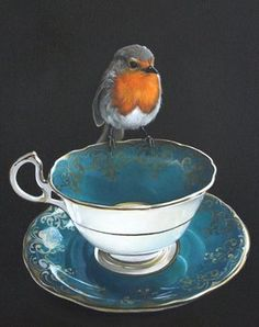 """A mini gift card featuring artwork by Jane Crisp titled """"Robin's Rest"""". The card is blank for your message and comes with a small envelope. Printed in NZ. Card measures 8 x 8 cm. New Zealand Art, Nz Art, Maori Art, Kiwiana, Bird Art, Art Day, Art Boards, Crisp, Fine Art Prints"""