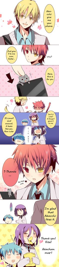 Kawaii♥ Akashi likes cats ^///^
