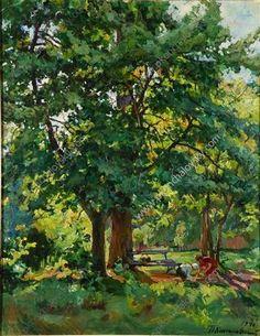 pyotr konchalovsky | In+the+park+-+Pyotr+Konchalovsky | Great art