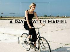 Stories Collective / A Day With Mariel / photography Weston Wells / model Mariel Soehner at Wilhelmina / design Bruno Tatsumi at U.I.WD. #fashion #summer #editorial #layout #design