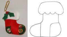 Botinha de natal em feltro. (Foto: Divulgação)