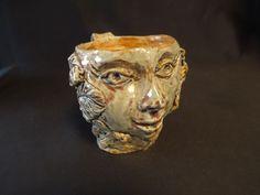Vintage Art Pottery Face Mug Signed Face Mug, Pottery Art, Vintage Art, Skull, Mugs, Ebay, Tumblers, Mug, Skulls