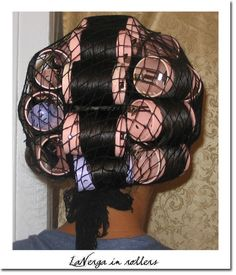 Roller Setting Relaxed Hair | dominican_blowout_rollers12