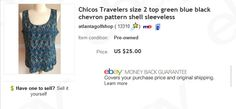 Chico's top $2 at thrift store sold for $25   Learn to sell preowned clothing on eBay