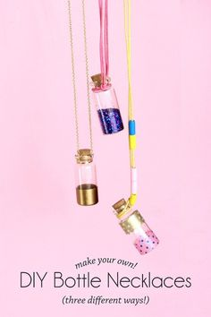 DIY Bottle Necklaces | 22 Cheap DIY Jewelry Projects for Girls | Cute and Beautiful Handmade Jewelries : http://diyready.com/cheap-diy-jewelry-projects-for-girls/