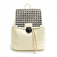 $15.37 Stylish Women's Satchel With PU Leather and Rivets Design