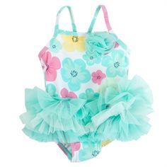 Little Me Infant Girl Floral Tutu Swimsuit