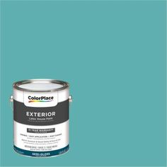 ColorPlace Exterior Paint, Caribbean Teal, #90GG 39/272, Blue