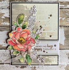 Sending Hugs by cathymac - Cards and Paper Crafts at Splitcoaststampers Altenew Beautiful Day Cards, Hug Photos, Altenew Cards, Sending Hugs, Floral Theme, Flower Cards, Birthday Cards, Stencils, Floral Wreath
