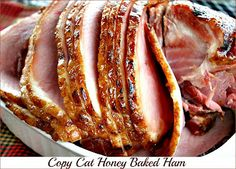 Mommy's Kitchen - Home Sweet - Home Cooking: Honey Baked Ham {Copy Cat Recipe} Copykat Recipes, Pork Recipes, Cooking Recipes, Kitchen Recipes, Cooking Bacon, Recipies, Baked Ham Recipes, Cooking Blogs, Cooking Steak