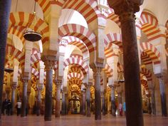 Mosque–Cathedral of Córdoba. Work begun in the reign of Caliph 'Abd al-Rahman I in 784. Photo by Timor Espallargas.