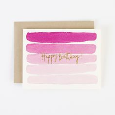 "Say ""Happy Birthday"" with a little ombre and gold."