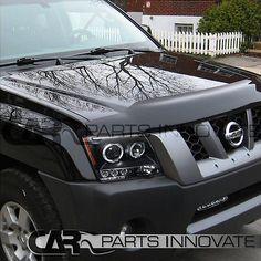 For 05-12 Nissan Xterra Black Dual Halo Projector Headlights+6-LED Fog Lamps