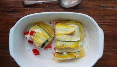 Deze zomerse lasagne met gele en groenecourgette komt van deleuke blog Cuisine de Clementine. Een aanradertje…