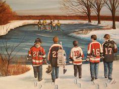 'Winter Classic - 2010' by Ron Genest, #hockey, #sportsart, #shopforart