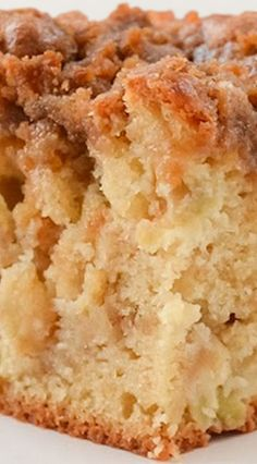 Apple Coffeecake with Cinnamon Brown Sugar Crumb great for breakfast, brunch or dessert for Thanksgiving and Christmas! serenabakessimplyfromscratch.com