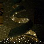 Large spiral on lighted sphere. Farrell Hamann Fine Art, Sacramento, CA - via @Farrell Hamann