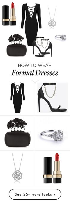 """Formal"" by sammiehuff on Polyvore featuring moda, Posh Girl, Yves Saint Laurent, BERRICLE, Alexander McQueen e Dolce&Gabbana"